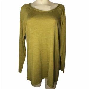 Eileen Fisher Merino Wool Sweater Green XL